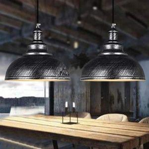 LUSTRE ET SUSPENSION Lot de 2 Suspensions Luminaires Industrielle Rétro