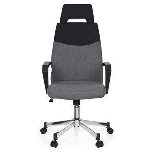 CHAISE DE BUREAU Chaise de bureau ROYAL PRO tissu gris foncé/gris h