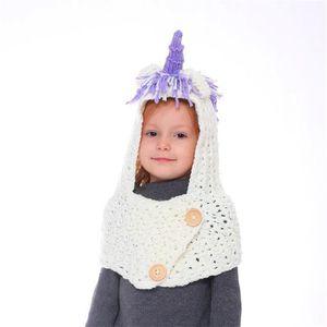 BONNET - CAGOULE Bonnet de Laine Tricote Licorne Dessin Animé Licor 0a66dd89f04