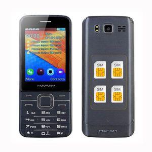 Téléphone portable Téléphone portable Quatre quad SIM 4 Quatre veille