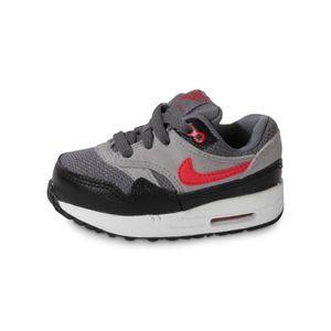 578e9f01835d1 Baskets-Running Air Max 1 Bébé Rouge noir gris - Achat   Vente ...
