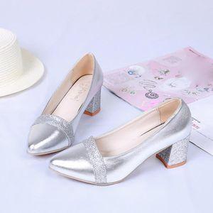 ESCARPIN Mode élégant à talons hauts Chaussures pointues Ch
