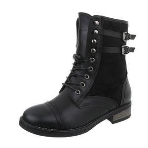 BOTTE Chaussures femme bottes fourrée le laçage Bottes n