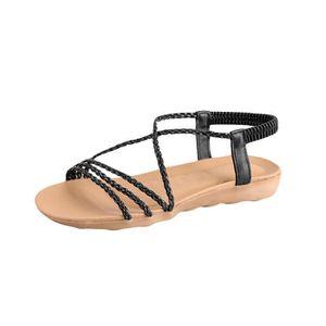 CHAUSSON - PANTOUFLE Femmes Summer Bohemia Woven ceinture simple pantou ... d6e05a53d07e