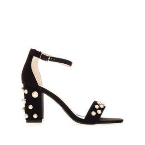 SALOPETTE Glamorous Sandales à Talons Noir Femme FW4144-BLAP
