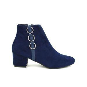 a027a6b76c6db Bottine - boots, Bottines Bleu Chaussures Femme, Cendriyon Bleu Bleu ...