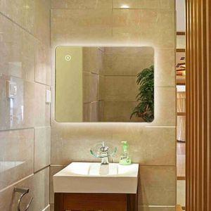 Miroir de salle de bain avec eclairage et prise - Achat / Vente pas cher