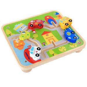 TAPIS DE JEU Puzzle City Track Maze Enfant Jouets en bois Voitu