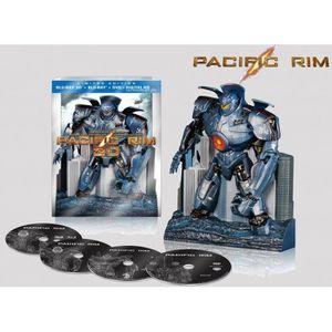 BLU-RAY FILM PACIFIC RIM BLU RAY 2D + 3D + STATUETTE