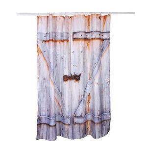 RIDEAU DE DOUCHE 180x150cm Rideau de douche en Polyester imperméabl