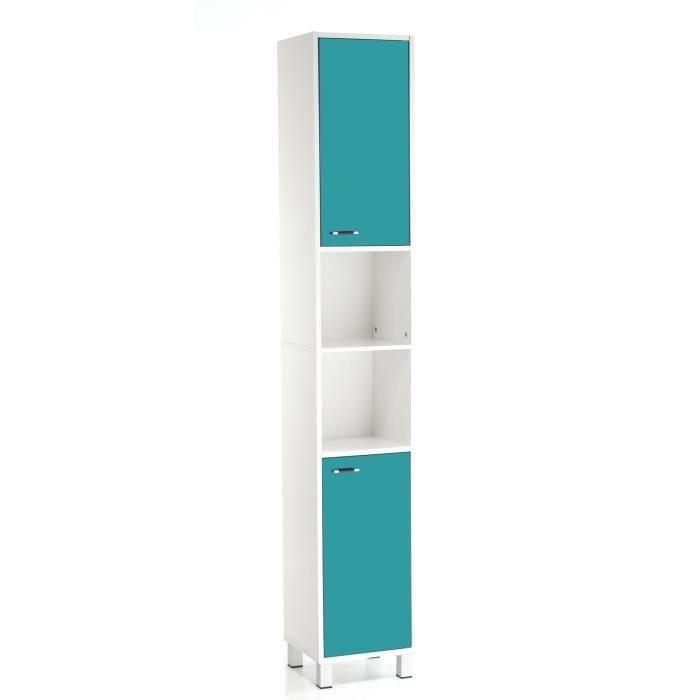 GLOSSY Colonne salle de bain turquoise - Achat / Vente colonne ...