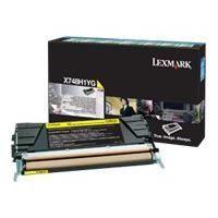 LEXMARK Cartouche de toner  - X748 - 10.000 pages  - Pack de 1 - Jaune
