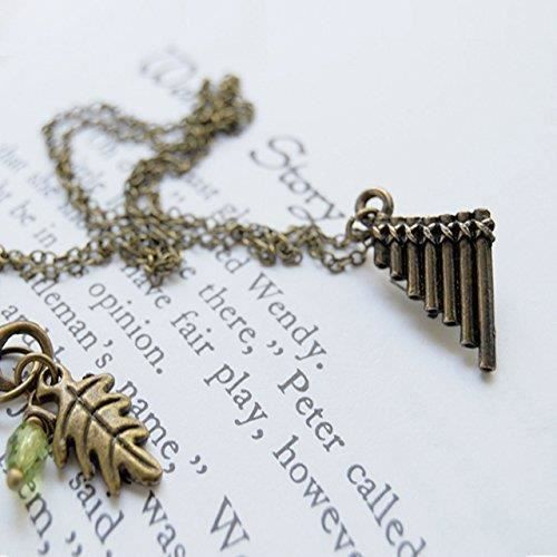 Collier Femme Pipes Peter Pan Flûte - Mignon Peter Pan Collier Charme RHP4P