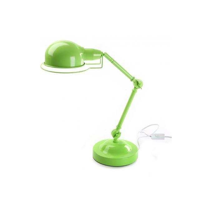 Lampe de bureau verte H45 cm Achat Vente Lampe de bureau