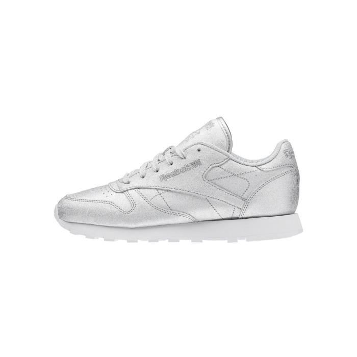 chaussures reebok classic leather metal