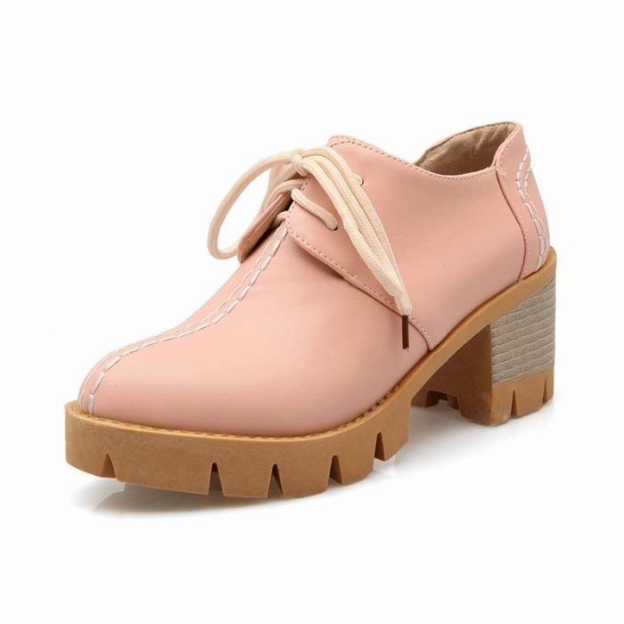 Chaussures Femme élégante Plateforme En PU Cuir Toutes les pointures de la 35 à la 43 tBs6O1tgF