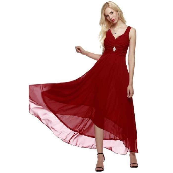 Robe de soiree femme rouge