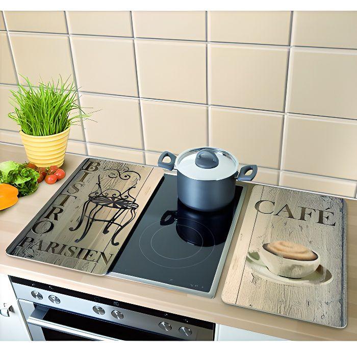 2 couvre plaques de cuisson universel bistro achat vente cache plaque de cuisine 2 couvre. Black Bedroom Furniture Sets. Home Design Ideas