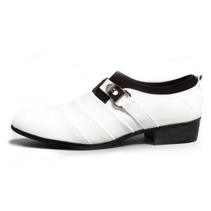 Chaussures En Cuir DéContracté Homme éPais Net D'Affaires Amortisseur Respirabilité AntidéRapant blanc 39 X24897_UAFFUBDI_S70 cinuQZ0Gf