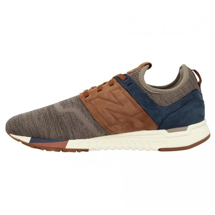 Baskets NEW BALANCE 247 Luxe velours toile Homme-42-Brown