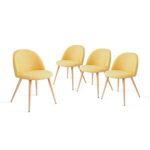 Chaise de cuisine jaune - Achat / Vente Chaise de cuisine jaune ...