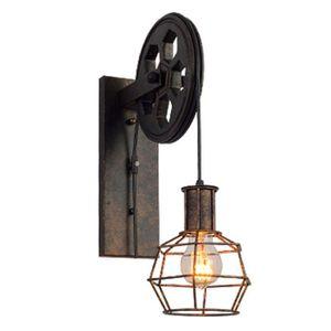 APPLIQUE  Lumière de mur d'ombre en métal de fer léger simpl