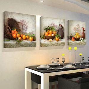 OBJET DÉCORATION MURALE Cuisine Photos de fruits Reproduction de toile de
