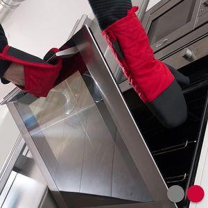 GANTS DE CUISINE Gants de cuisine avec manique Neoprene Couleur - R
