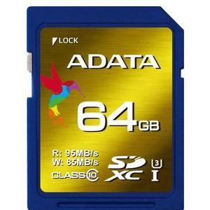 CARTE MÉMOIRE ADATA CARTE SDXC 64GO UHS-I U3 ADATA TECHNOLOGY AS