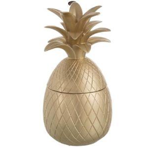 VASE - SOLIFLORE Grand Vase Ceramique Ananas En Ceramique Or