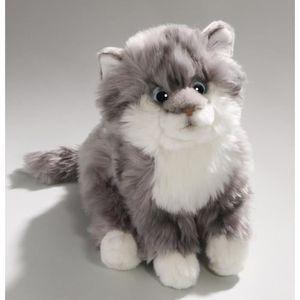peluche chat gris achat vente jeux et jouets pas chers. Black Bedroom Furniture Sets. Home Design Ideas