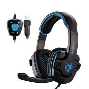 CASQUE AVEC MICROPHONE SADES SA901 Casque Gaming PC, Casque Gamer filaire