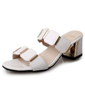 Sandales Pour Les Femmes En Vente, Blanc, Cuir, 2017, 36 37 38 38,5 Paris Texas