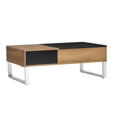 Table Basse Relevable Boisnoir Pierre L 110 X L 60 X H 37