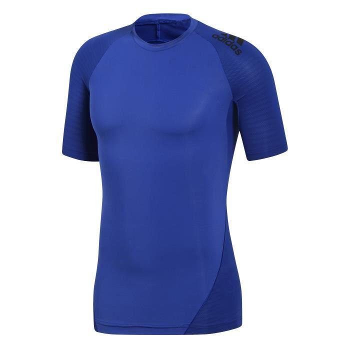 ADIDAS T-Shirt Multisport Alpha Skin Tech - Homme - Bleu