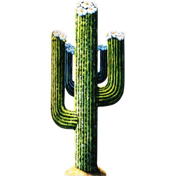 d coration cactus carton taille unique achat vente d co de f te murale carton cdiscount. Black Bedroom Furniture Sets. Home Design Ideas