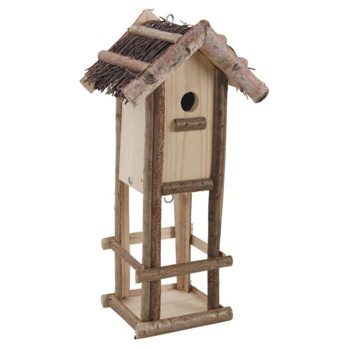 nichoir mangeoire oiseaux achat vente nichoir mangeoire oiseaux pas cher cdiscount. Black Bedroom Furniture Sets. Home Design Ideas