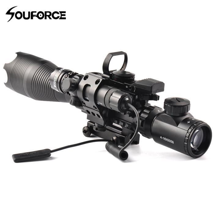 Avec Lampe Vert Point Pour Pistolet 4 Air 16x50eg Tactique De Poche Fusil Chasse Viseur Laser À LpUMVqSzG