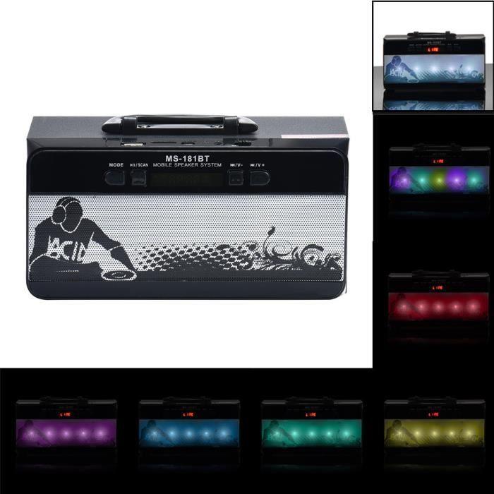 Thanksgi® Extérieur Sans Fil Bluetooth Haut-parleur Portable Super Bass Avec Radio Usb - Tf Aux Fm_1756