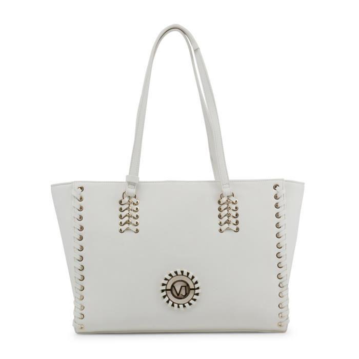 Sac à main femme blanc détail clous Versace Jeans Blanc