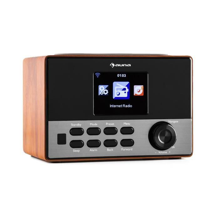 """Auna Connect 90 Wd Radio Internet Streaming Sans Fil Wifi Aux 2,3"""" Ecran Couleur Tft Line-out"""
