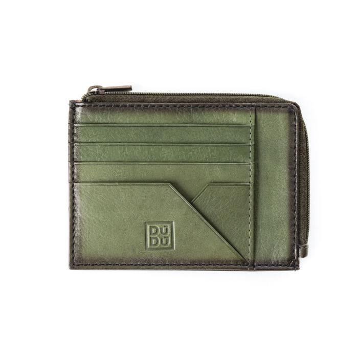 Pochette porte-monnaie, porte-documents et cartes de crédit pour homme  réalisée en cuir véritable de vachette pleine fleur. Ferme. f4399d6fac1