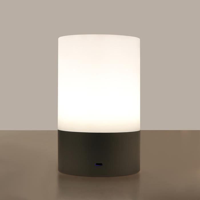 Luminosité Nuit 3 Rgb De Chevet Table Led Lumière Capteur Lampe D'ambiance Rechargeable À Niveaux Tactile DEHeW29IY