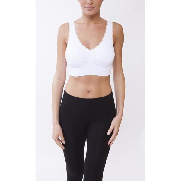 Brassiere Sport Femme Bandeau cr... Blanc Blanc Blanc - Achat ... fa1d95ded7c3