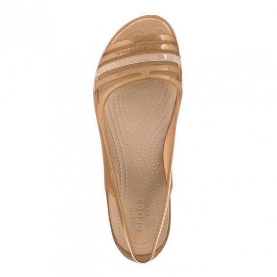 Sandales Crocs Isabella Huarache Flat Bronze W e17 - Crocs