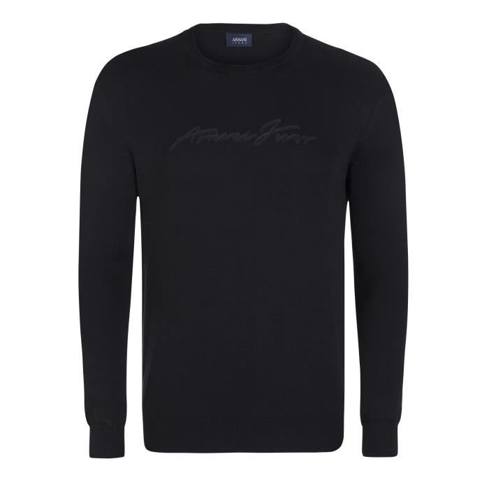 26a1c2dded5 ARMANI JEANS Pull - Homme - Noir - Achat   Vente pull ARMANI JEANS ...
