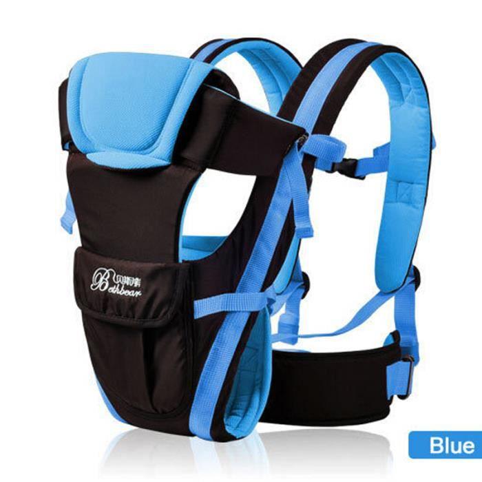 2-30 mois respirante Multifonctionnel avant Face Porte-bébé Infant  confortable Sling Backpack Pouch Wrap bébé kangourou 283059dec4c