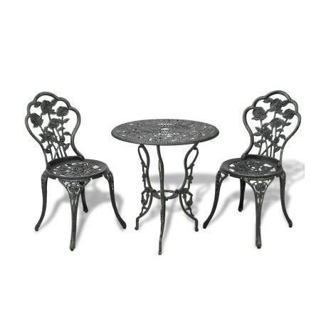 Salon de jardin table et chaise vintage bistrot terrasses ...