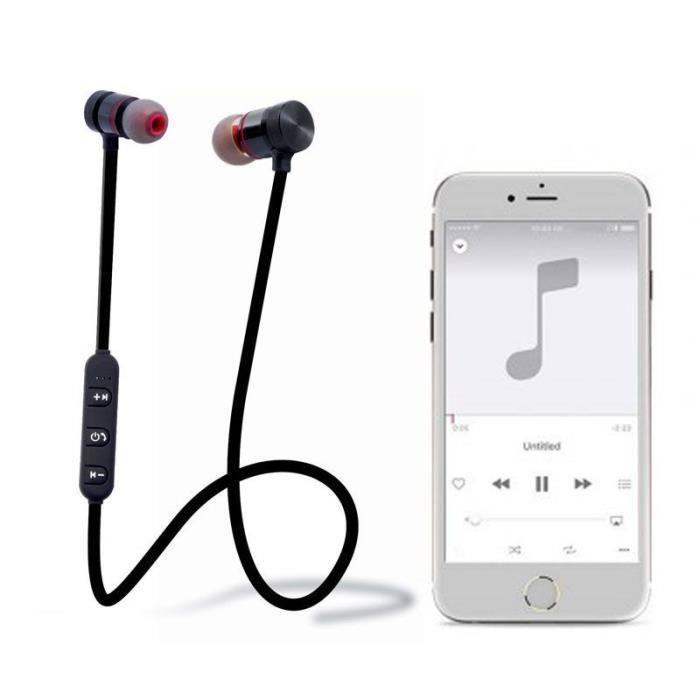 Ecouteurs Sport Sans Fil Bluetooth Noir Pour Htc Desire