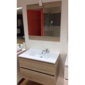meuble salle de bain vasque 70 cm achat vente pas cher. Black Bedroom Furniture Sets. Home Design Ideas